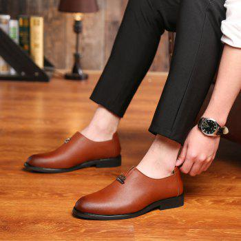 Men's  Shoes Business Durable Pointed Toe Formal Shoes - BROWN 39