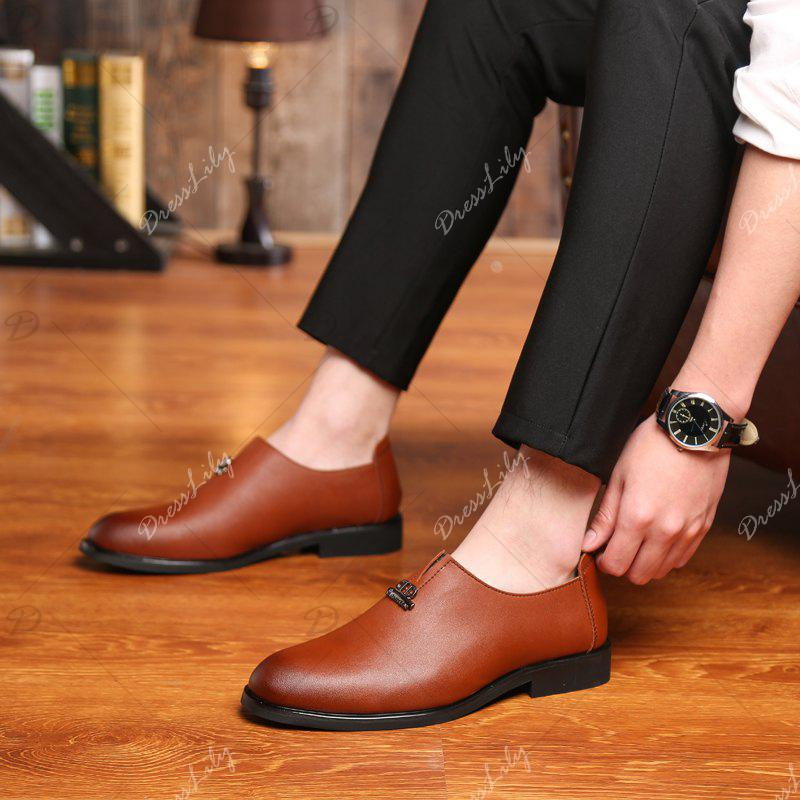 Men's  Shoes Business Durable Pointed Toe Formal Shoes - BROWN 41