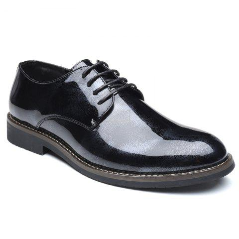 17 off 2019 men's business casual patent leather shiny