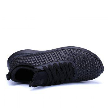 Men's Sports Fashion Shoes Comfy Knitted Chic Breathable Shoes - BLACK 40