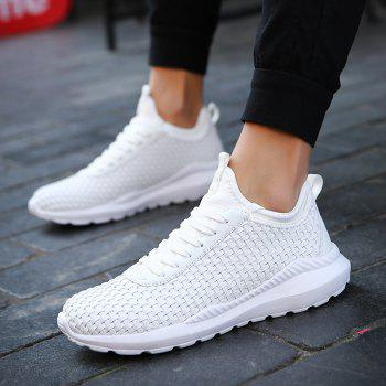 Chaussures de sport pour hommes Chaussures Comfy Knitted Chic respirant - Blanc 44