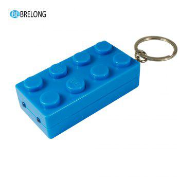 Brelong Noise-making Cartoon Keychain with LED  Light  Pendant -  BLUE