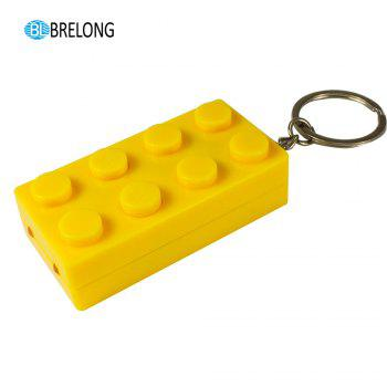 Brelong Noise-making Cartoon Keychain with LED  Light  Pendant -  YELLOW