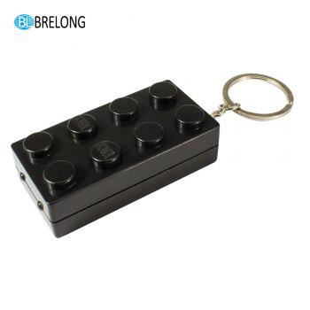 Brelong Noise-making Cartoon Keychain with LED  Light  Pendant -  BLACK