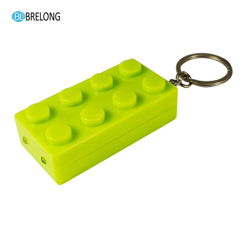 Brelong Noise-making Cartoon Keychain with LED  Light  Pendant - GREEN