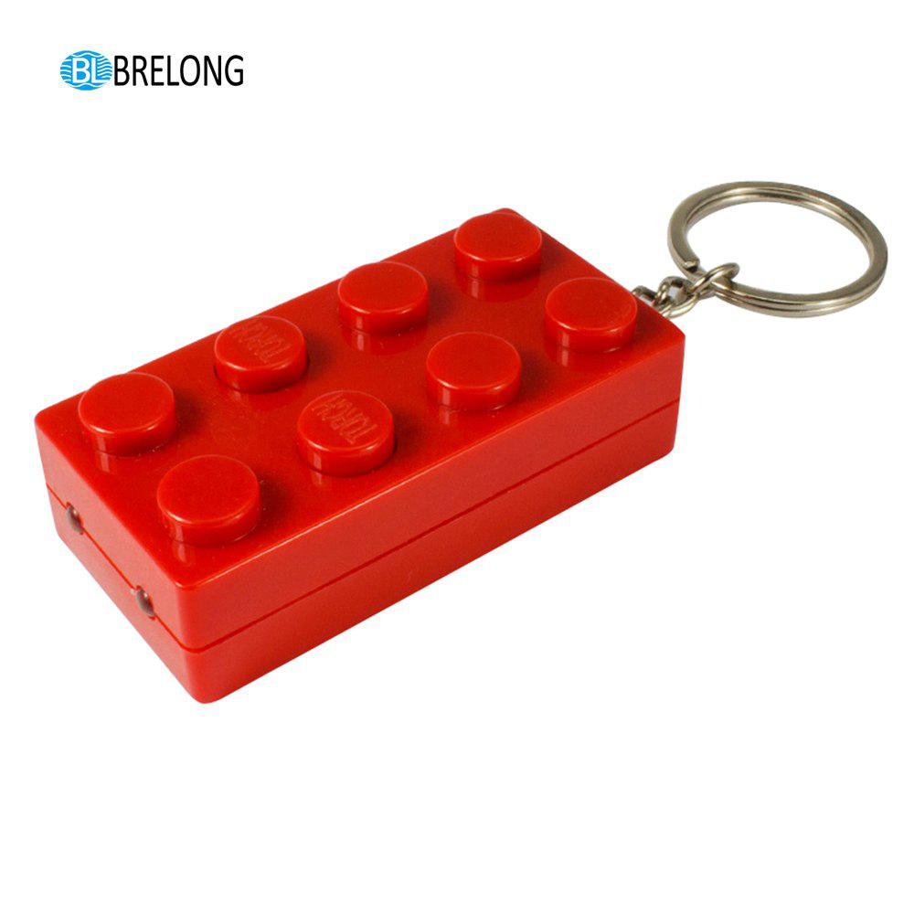 Brelong Noise-making Cartoon Keychain with LED  Light  Pendant - RED