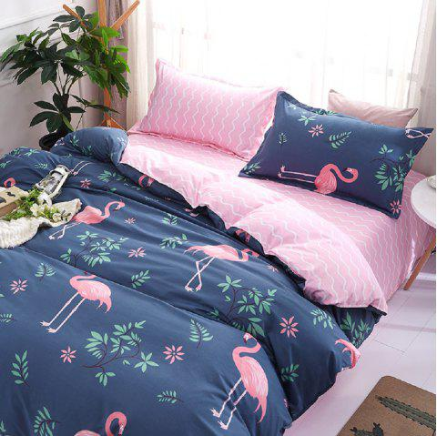 Fashion Bird Pattern Personalized Polyester Bedding Set - COLORMIX QUEEN