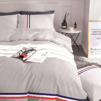 Fashion Active Color Stripe Standard Bedding Set - GRAY KING