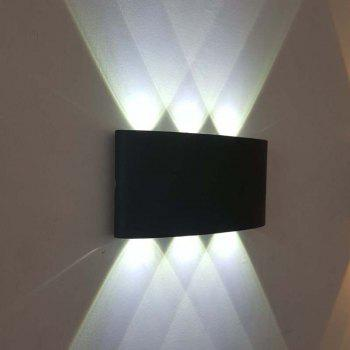 Jiawen 6W Aluminum LED Wall Light Bedside Bedroom Porch Stair Lamp AC 85 - 265V -  COOL WHITE LIGHT