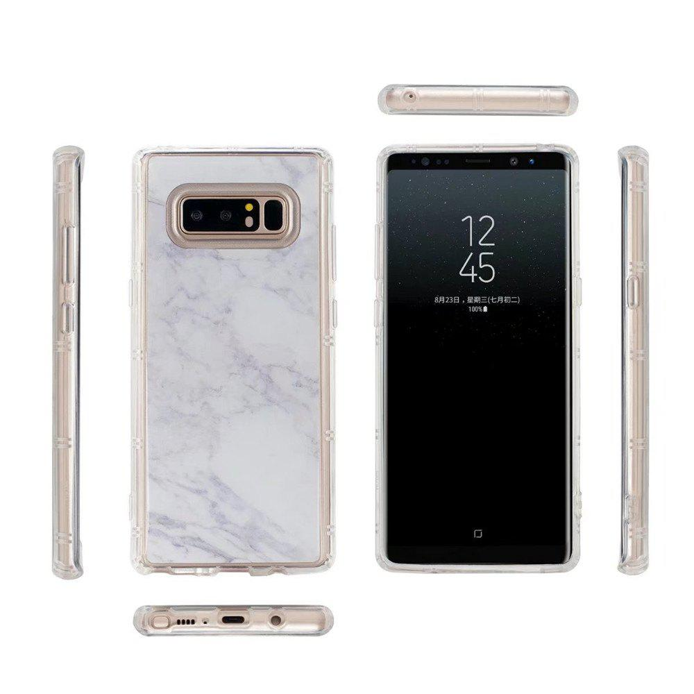 Smooth Surface Protector Anti-scratch Abrasion Resistant Defender Magic Case Cover for Samsung Galaxy Note 8 - WHITE