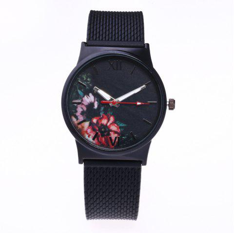 Trendy Simple Silicone Band Women Watch - PINK