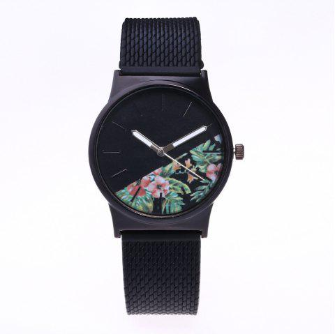 Trendy Simple Silicone Band Women Watch - CHAMBRAY