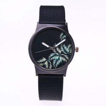 Trendy Simple Silicone Band Women Watch - GREEN GREEN