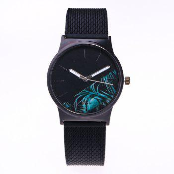 Trendy Simple Silicone Band Women Watch - BLUE BLUE
