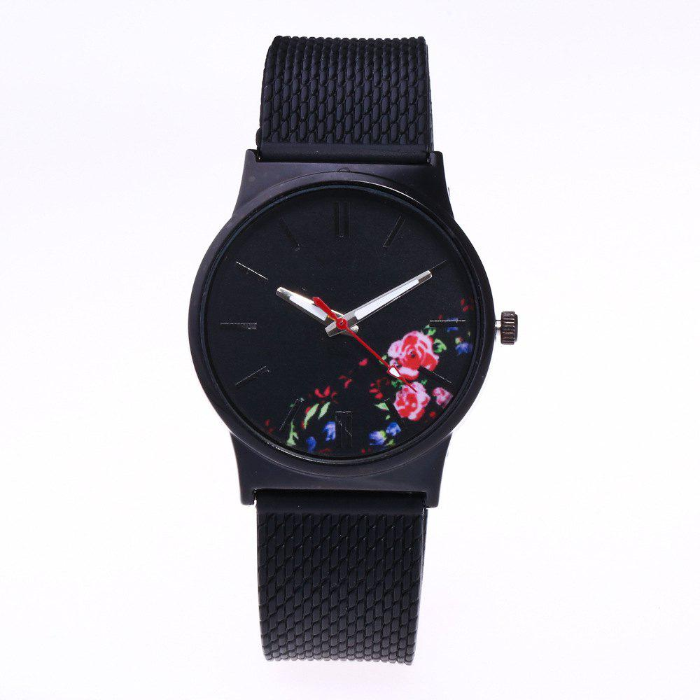 Trendy Simple Silicone Band Women Watch - RED