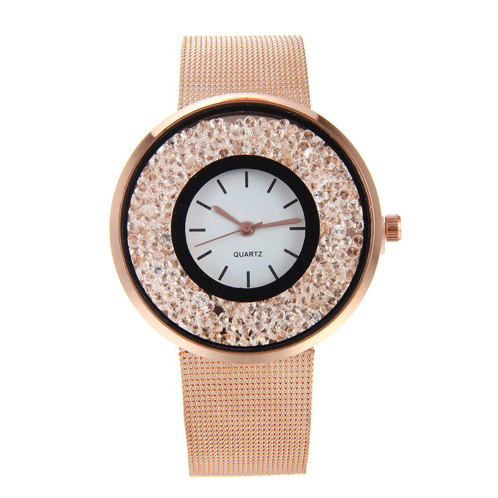 Fashion Stainless Steel Watch for Women Quartz Analog Wrist Watch - 玫瑰金