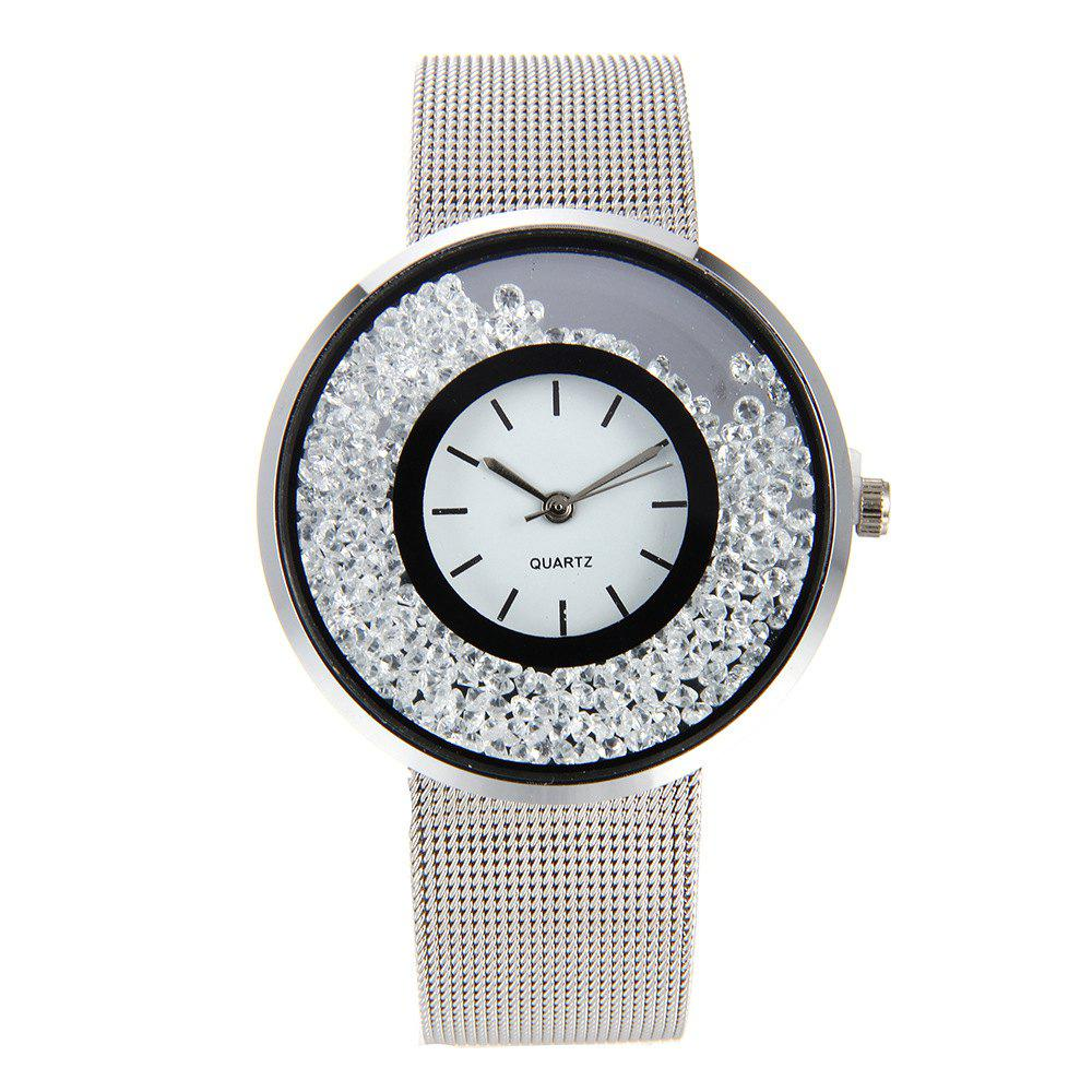 Fashion Stainless Steel Watch for Women Quartz Analog Wrist Watch - SILVER