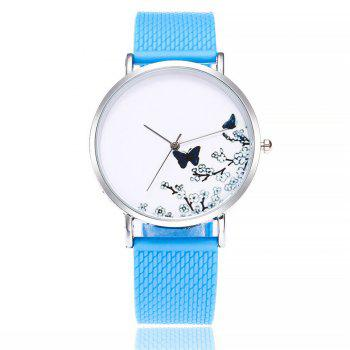 Fashion Butterfly Print Watch Women Quartz Watch - WINDSOR BLUE WINDSOR BLUE