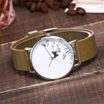 Fashion Butterfly Print Watch Women Quartz Watch - COFFEE