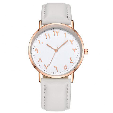 Fashionable Unisex Business Quartz Watch - WHITE