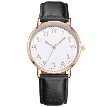 Fashionable Unisex Business Quartz Watch - BLACK BLACK