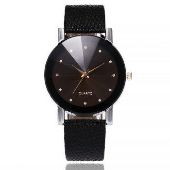 Retro Casual Quartz Unisex Wristwatch - BLACK BLACK