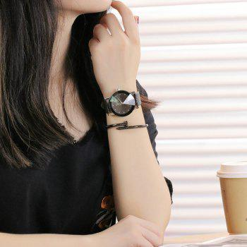 Retro Casual Quartz Unisex Wristwatch - BLACK