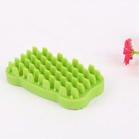 Lovoyager GTS1111 Pet Shower and Wash Dog Cat Products Bone Brushes - GREEN ONE SZIE