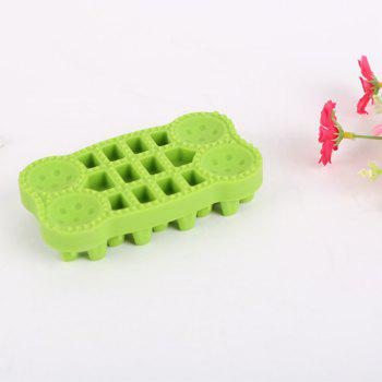 Lovoyager GTS1111 Pet Shower and Wash Dog Cat Products Bone Brushes - GREEN GREEN