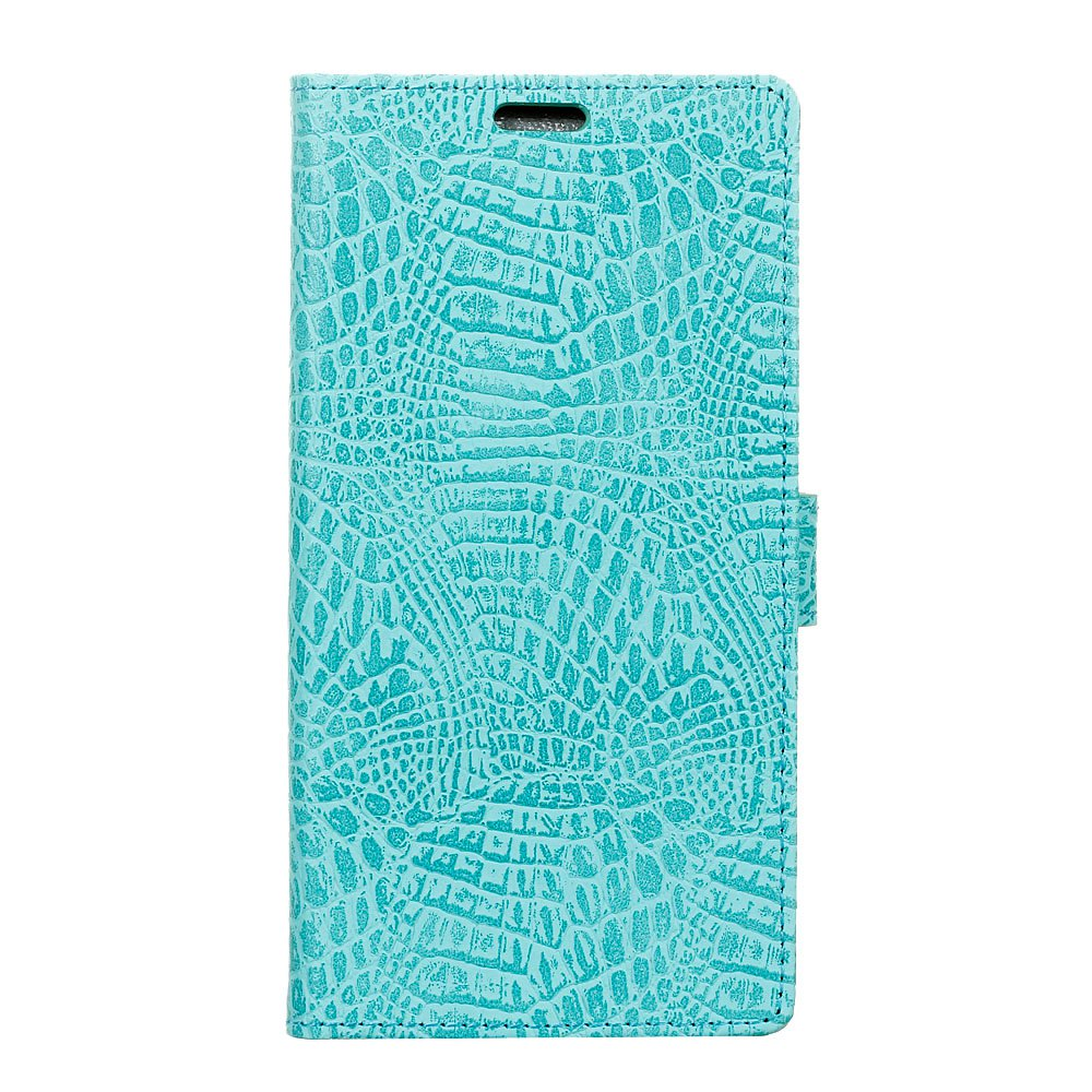 Wkae Retro Crocodile Pattern Business Leather Case for Doogee X30 - GREEN