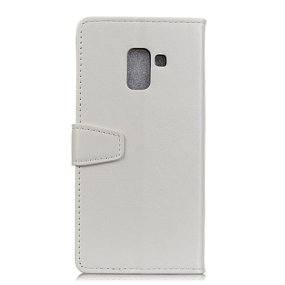 Wkae Vintage Crazy Leather Case for Samsung Galaxy A7 2018 - WHITE