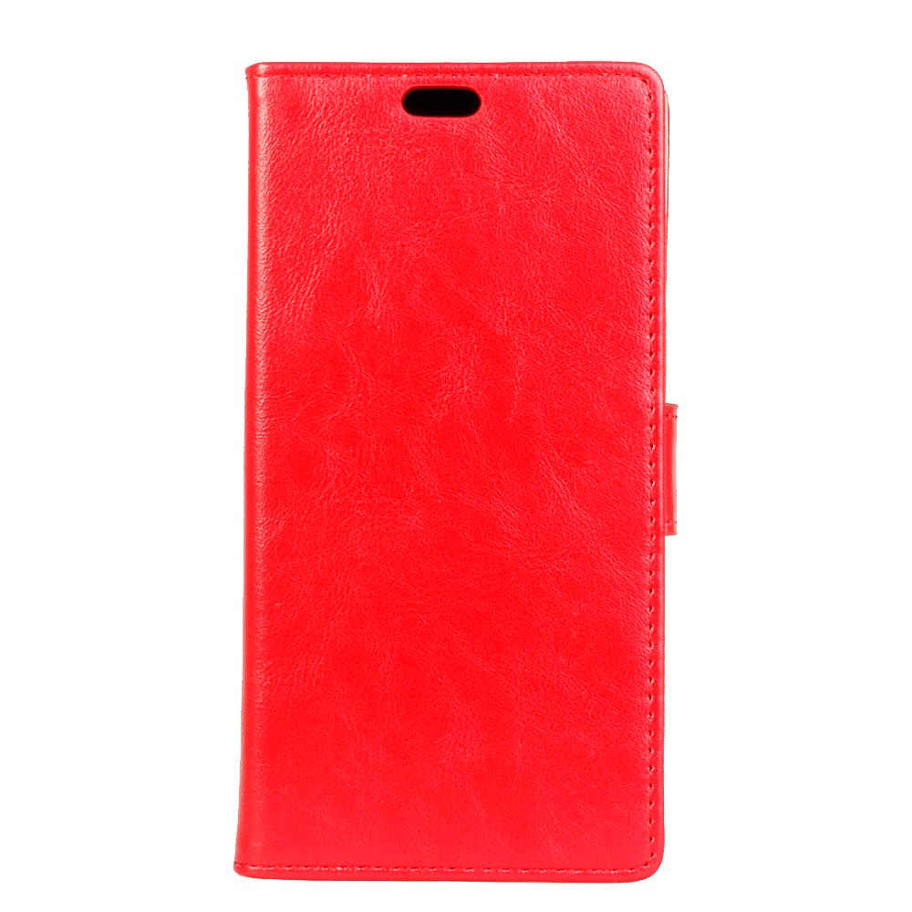 Wkae Vintage Crazy Leather Case for Samsung Galaxy A7 2018 - RED