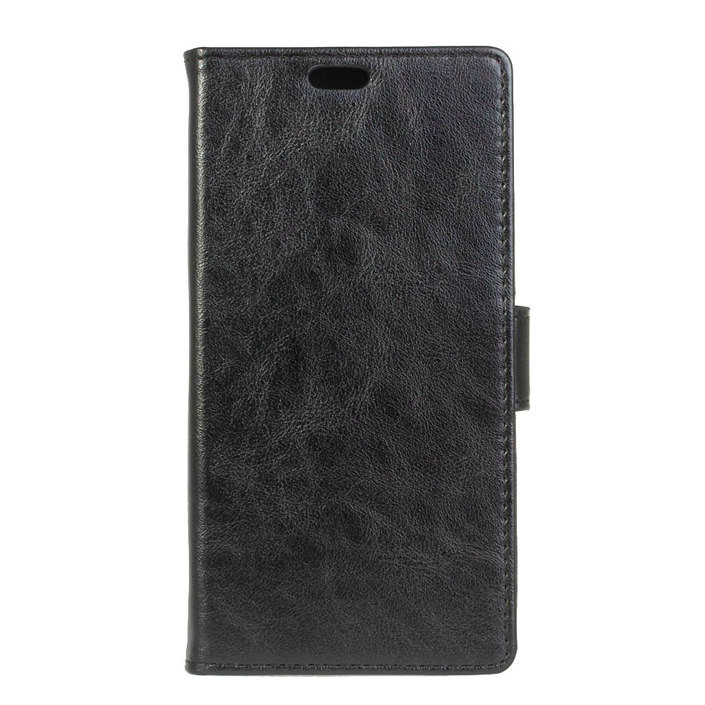 Wkae Vintage Crazy Leather Case for Samsung Galaxy A7 2018 - BLACK