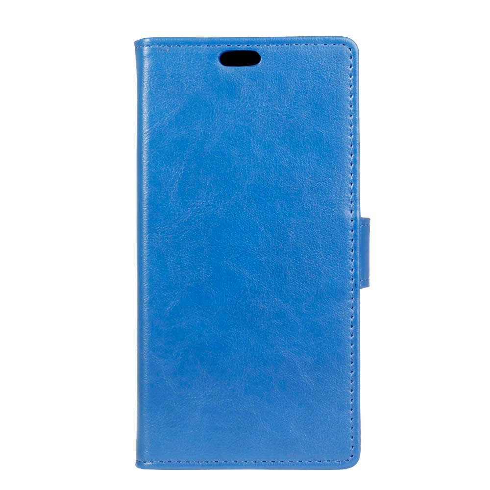 Wkae Vintage Crazy Leather Case for Samsung Galaxy A7 2018 - BLUE