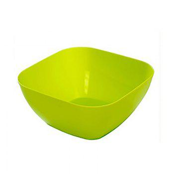 DIHE Plastic Square Snack Bowls Durable Various Styles - GREEN GREEN