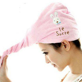 DIHE Lovely Rabbit Dry Hair Cap Super Absorbent Thickening - PINK