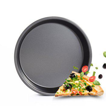 DIHE 9Inch Carbon Steel Pizza Pan One Design Rugged and Durable - BLACK BLACK