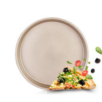 DIHE 9Inch Carbon Steel Pizza Pan One Design Rugged and Durable - GOLDEN GOLDEN