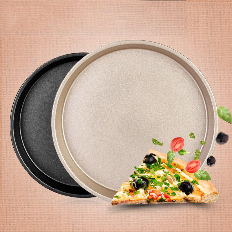 DIHE 9Inch Carbon Steel Pizza Pan One Design Rugged and Durable - GOLDEN