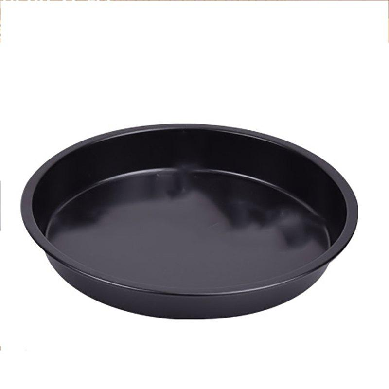 DIHE 9Inch Carbon Steel Pizza Pan One Design Rugged and Durable - BLACK