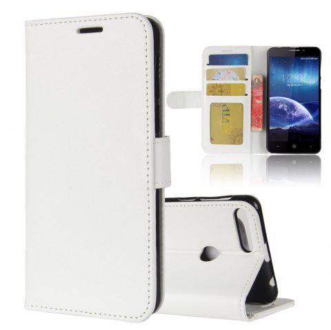 Durable Crazy Horse Pattern Back Buckle Flip PU Leather Wallet Case for Leagoo Kiicaa Power - WHITE