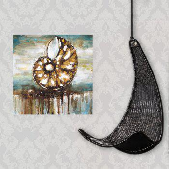 XiangYunChengFeng  Abstract Conch Shell Home Decor Canvas Oil Painting - TAN TAN