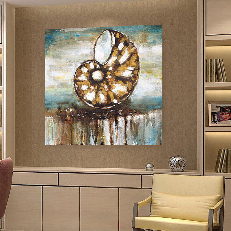 XiangYunChengFeng  Abstract Conch Shell Home Decor Canvas Oil Painting - TAN 60 X 60CM