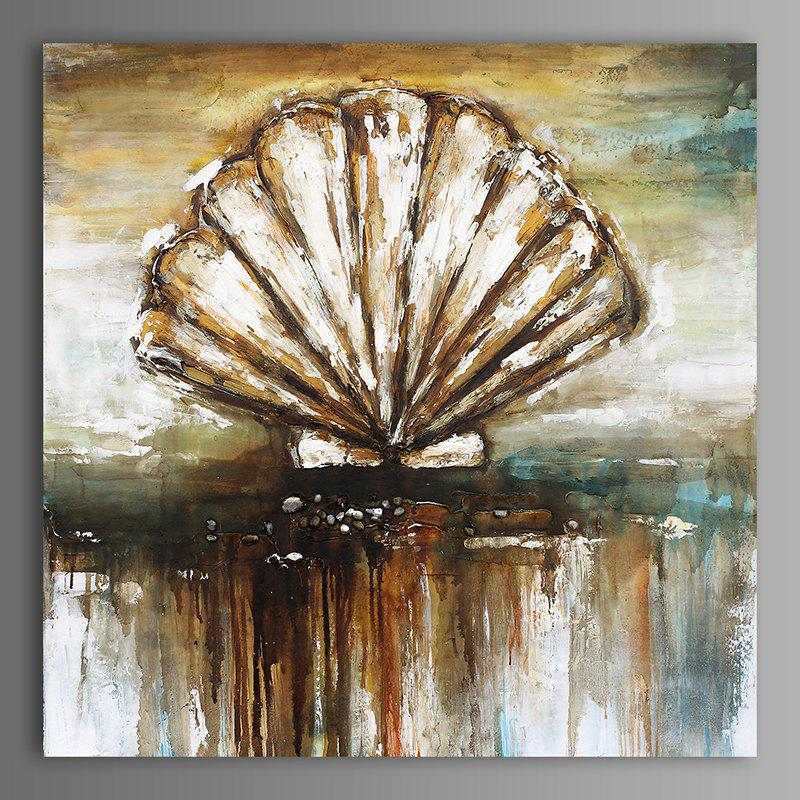 XiangYunChengFeng  Abstract Conch Shell Home Decor Canvas Oil Painting - COLORMIX 50 X 50CM