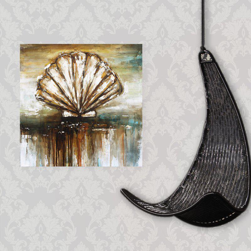 XiangYunChengFeng  Abstract Conch Shell Home Decor Canvas Oil Painting - COLORMIX 80 X 80CM