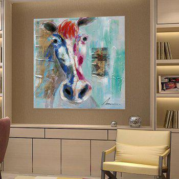 XiangYunChengFeng Modern Square Oil Painting Fine Horse Hanging Wall Art - COLORMIX 50 X 50CM