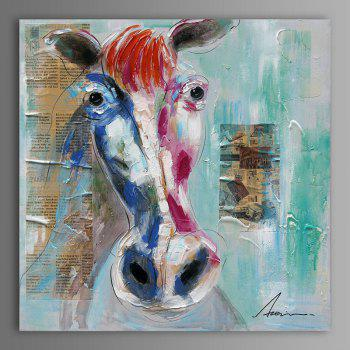 XiangYunChengFeng Modern Square Oil Painting Fine Horse Hanging Wall Art - COLORMIX COLORMIX