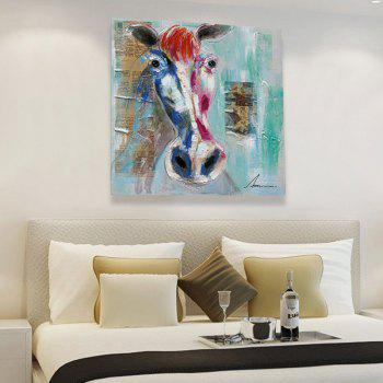 XiangYunChengFeng Modern Square Oil Painting Fine Horse Hanging Wall Art - COLORMIX 80 X 80CM