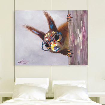XiangYunChengFeng   Hand Painted Squirrel Animal Oil Painting - COLORMIX 60 X 80CM