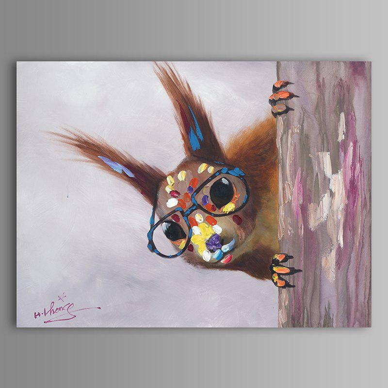 XiangYunChengFeng   Hand Painted Squirrel Animal Oil Painting - COLORMIX 30 X 40CM
